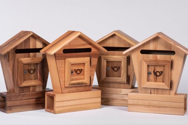Poštni nabiralniki iz lesa