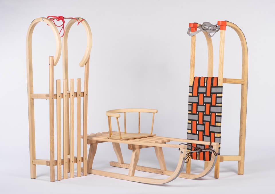 Lesene sanke različni modeli